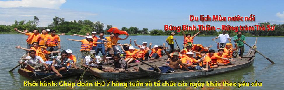 Du lịch mùa nước nổi búng bình thiên